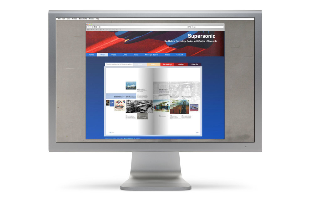 Supersonicsite.com a history of the design, lifestyle, and technology of Concorde.