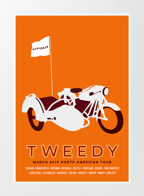 Our show poster for the 2015 Tweedy U.S. Tour