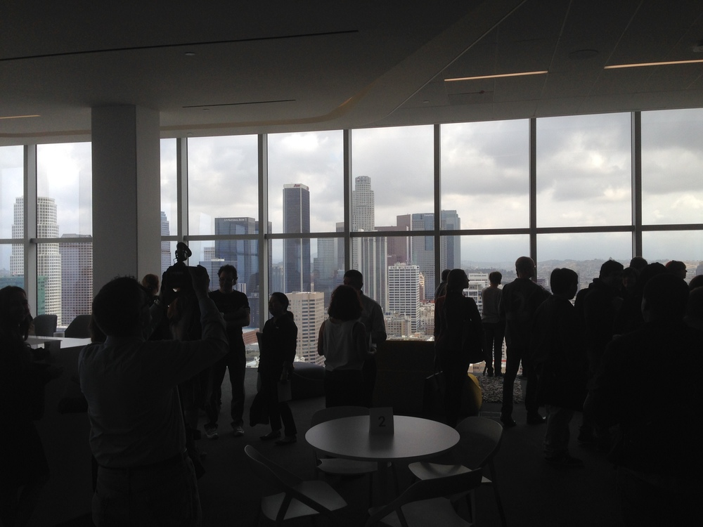 On the 34th floor of Downtown L.A.s AT&T center at SteelCase Live Work center