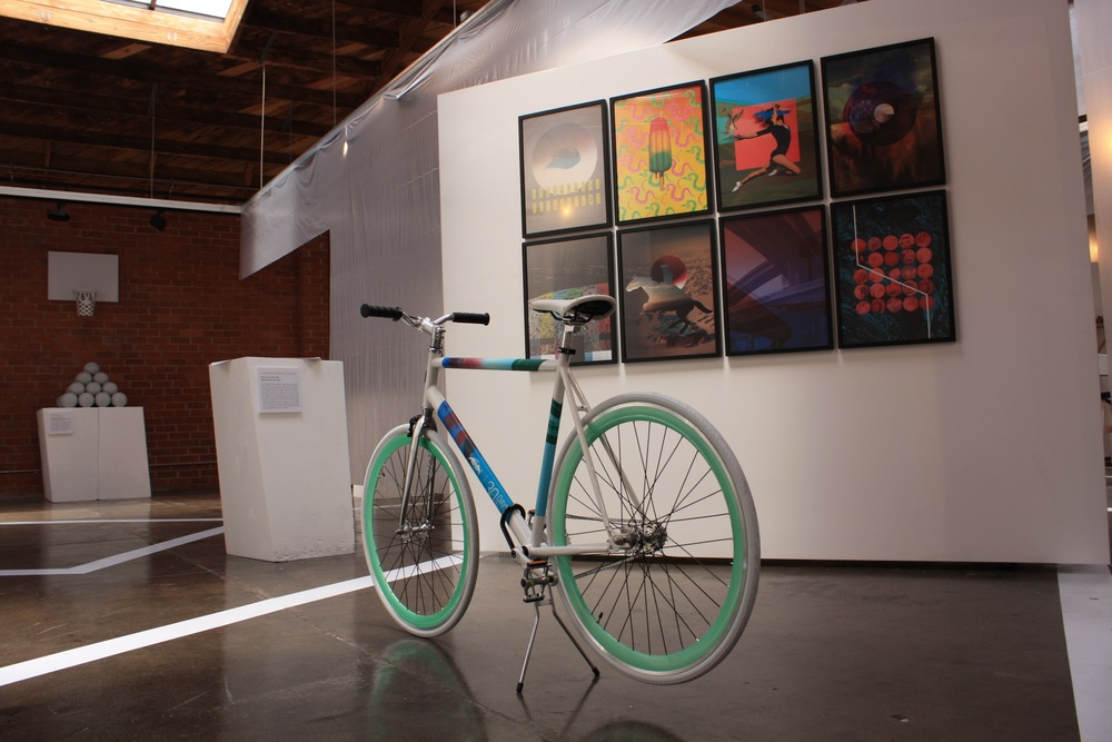 "Our ""30 Days in LA"" artwork with the Solé Bicycle designed for the festival"