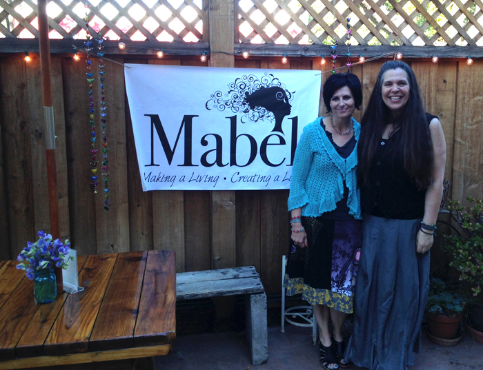 The brains and beauties behind Mabel at their summer launch party - Stefanie Renee and Liz Kalloch.