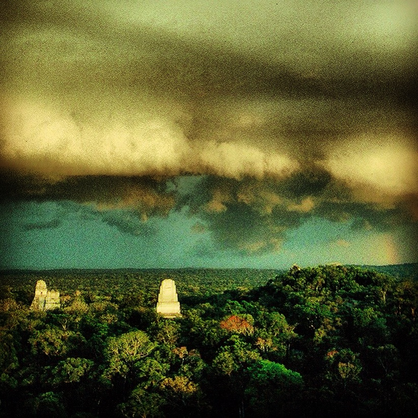 Taken from atop the Jaguar Temple, full moon, April, 1989.