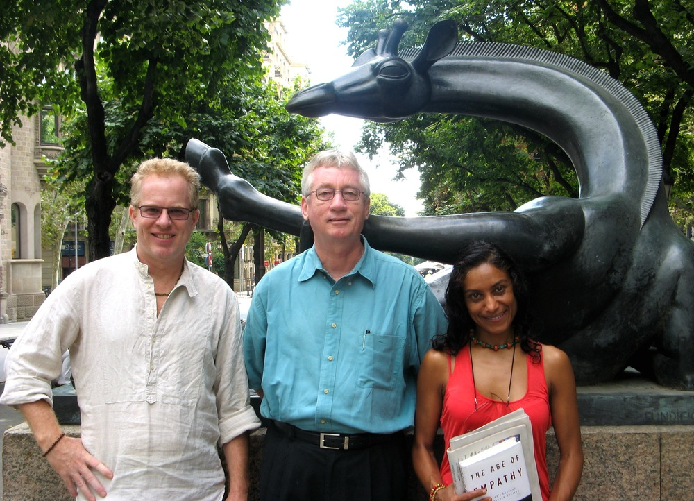 With Cacilda and Frans de Waal on Las Ramblas, in Barcelona.