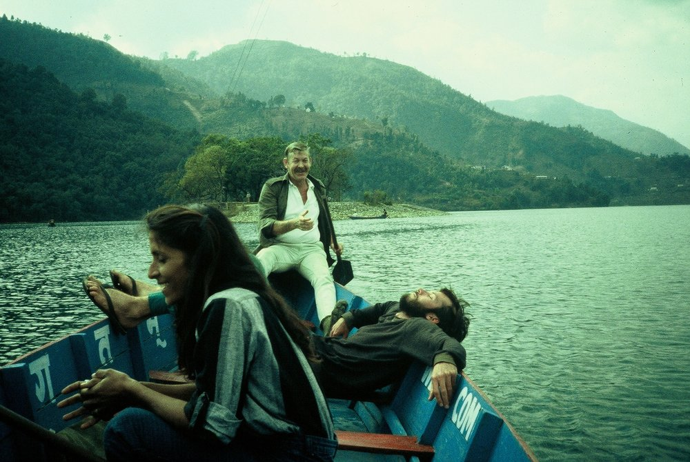 Captain Dan, Shaku, and my buddy Sean in the lake at Pokhara, Nepal.