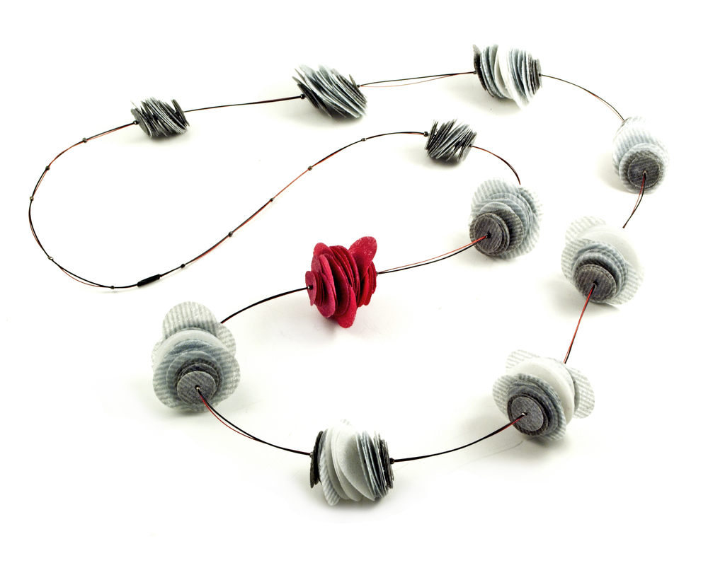 Paper Rose Long Necklace
