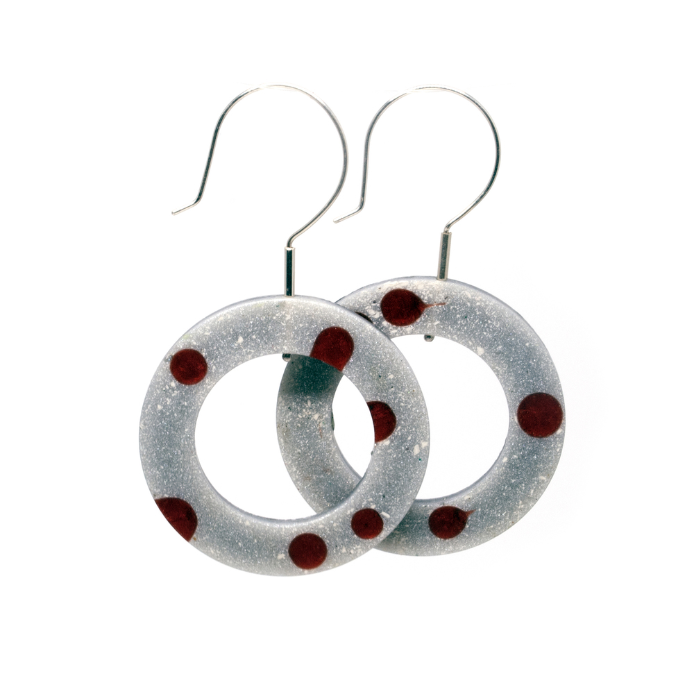 Cast Epoxy Resin Hoop Earrings