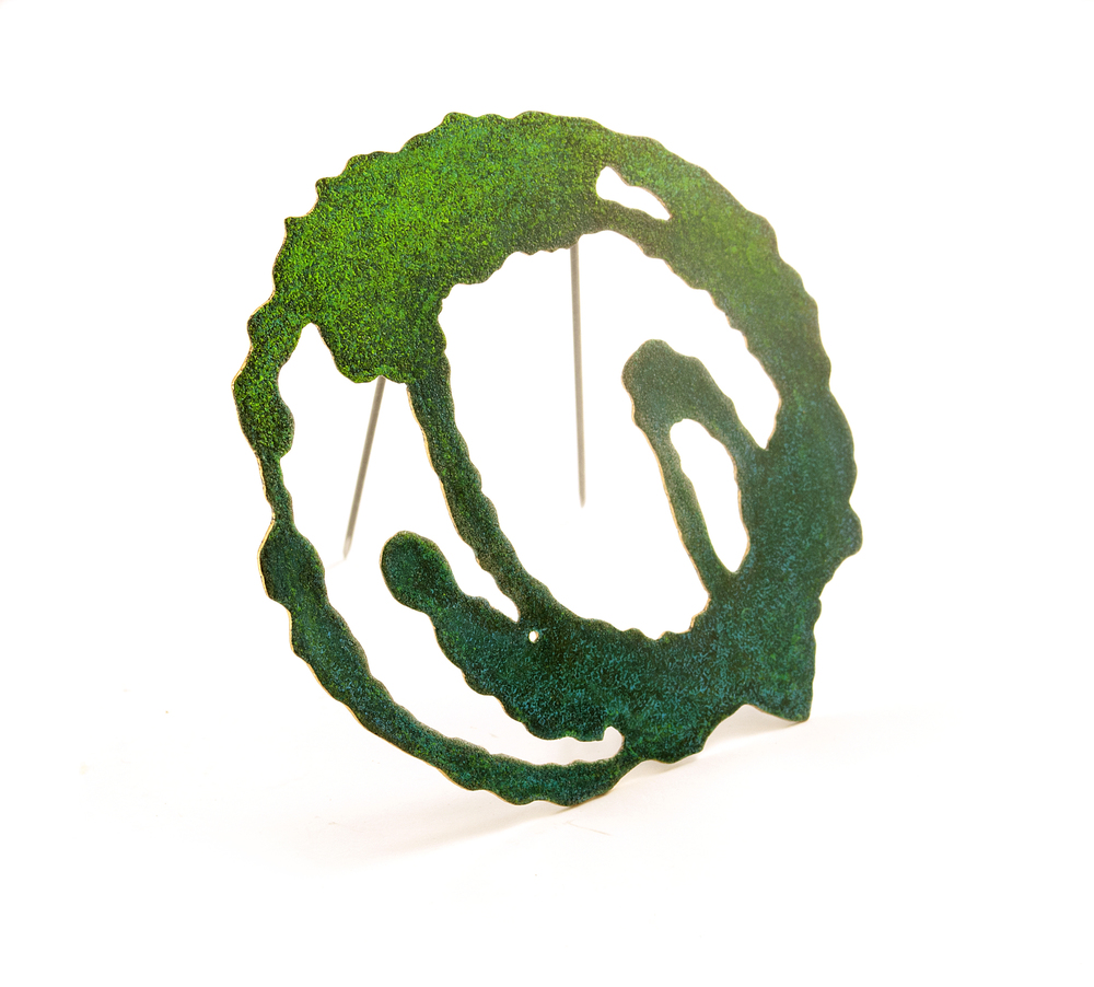 Ink Stroke Brooch