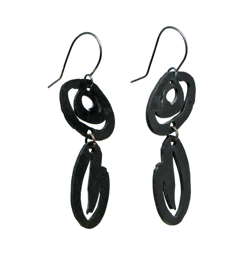 Ink Stroke Earrings