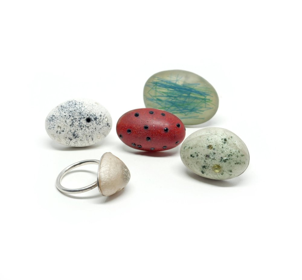 Resin Rock Rings
