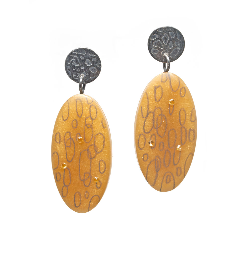Resin Butterscotch Earrings