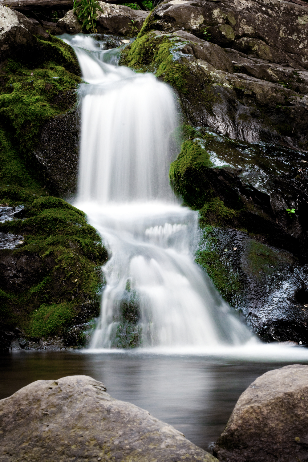 Waterfall in the Shenandoah National Forest.