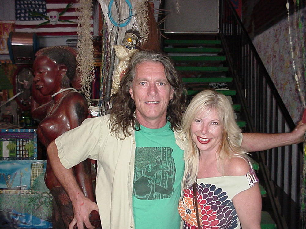 Dr. Bob at his studio in the Faubourg Marigny