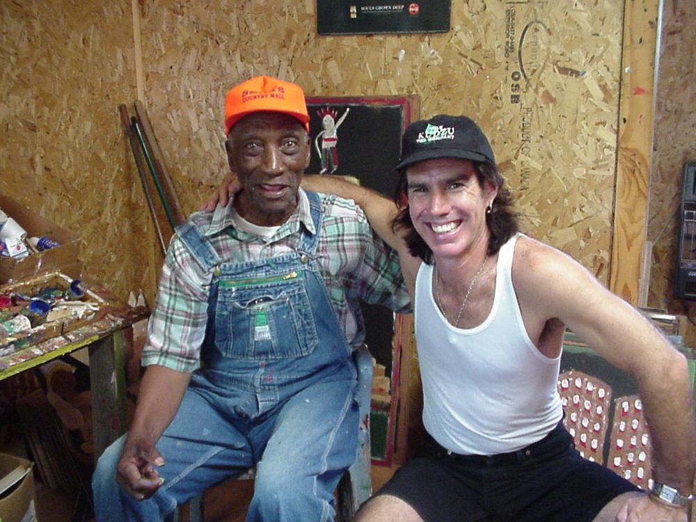 Paul with Jimmy Lee Sudduth 2001