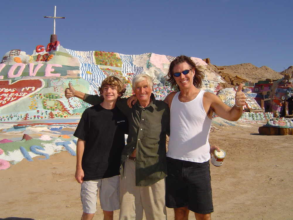 Outsider Leonard Knight built up an entire mountainside with structures and paint. Salvation Mountain is an OUTSIDER ART ENVIRONMENT. He was inspired and compelled to create all this in order to spread the word of God!