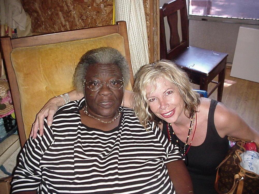 Visiting Bernice Sims in 2002