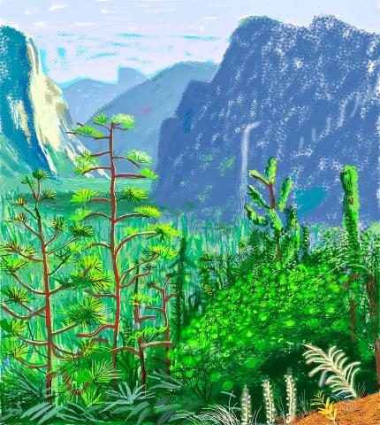 David Hockney,  Yosemite I, October 16th 2011