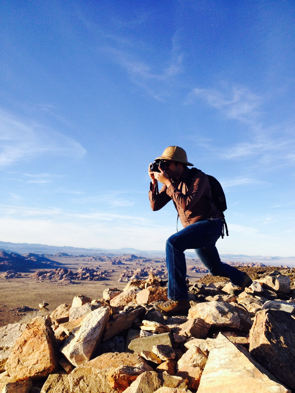 Bryan on Ryan Mountain, doing his best Ansel Adams