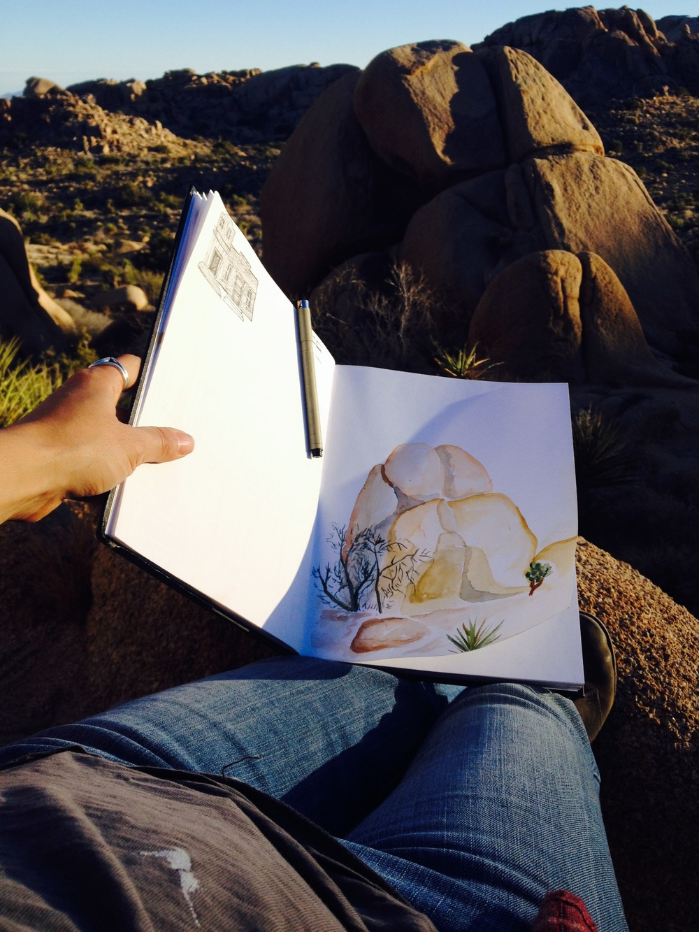 Channeling my inner Georgia O'Keeffe by sketching some rocks.