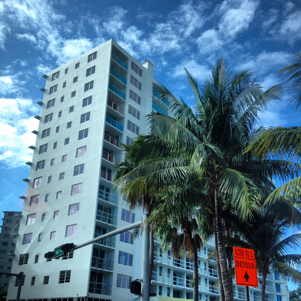 'So Miami', a recurring phrase amongst us on this trip as we gazed at white buildings, blue skies and palm trees.