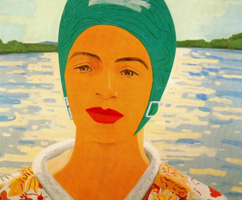 Ada with Bathing Cap by  Alex Katz