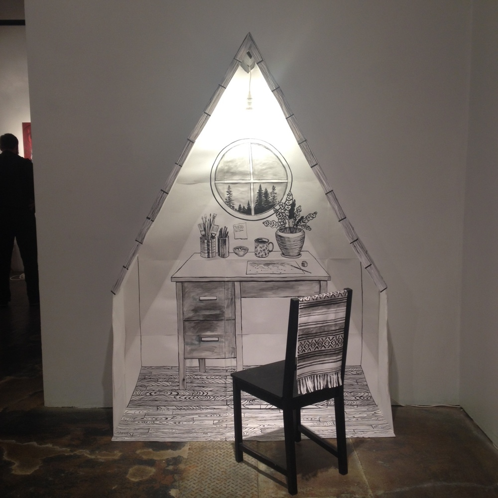 My Shelter installation at The Citadel Gallery
