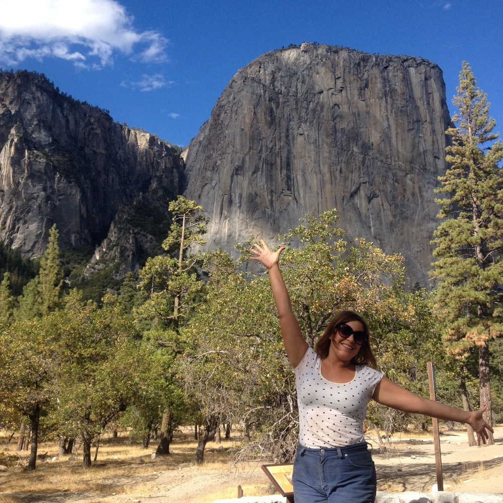 Rachel, very happy to be in Yosemite.