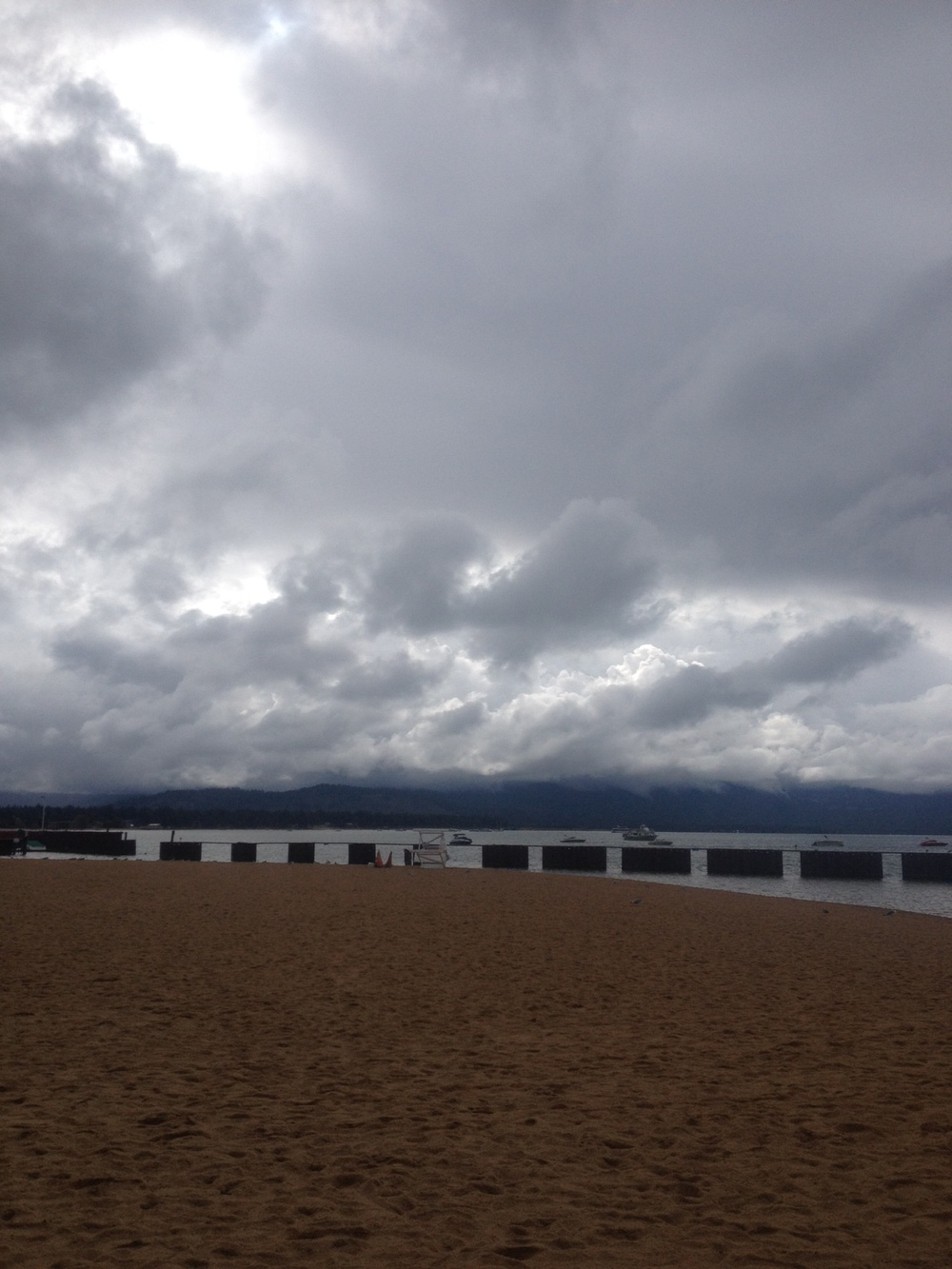 Gloomy weather in South Tahoe.