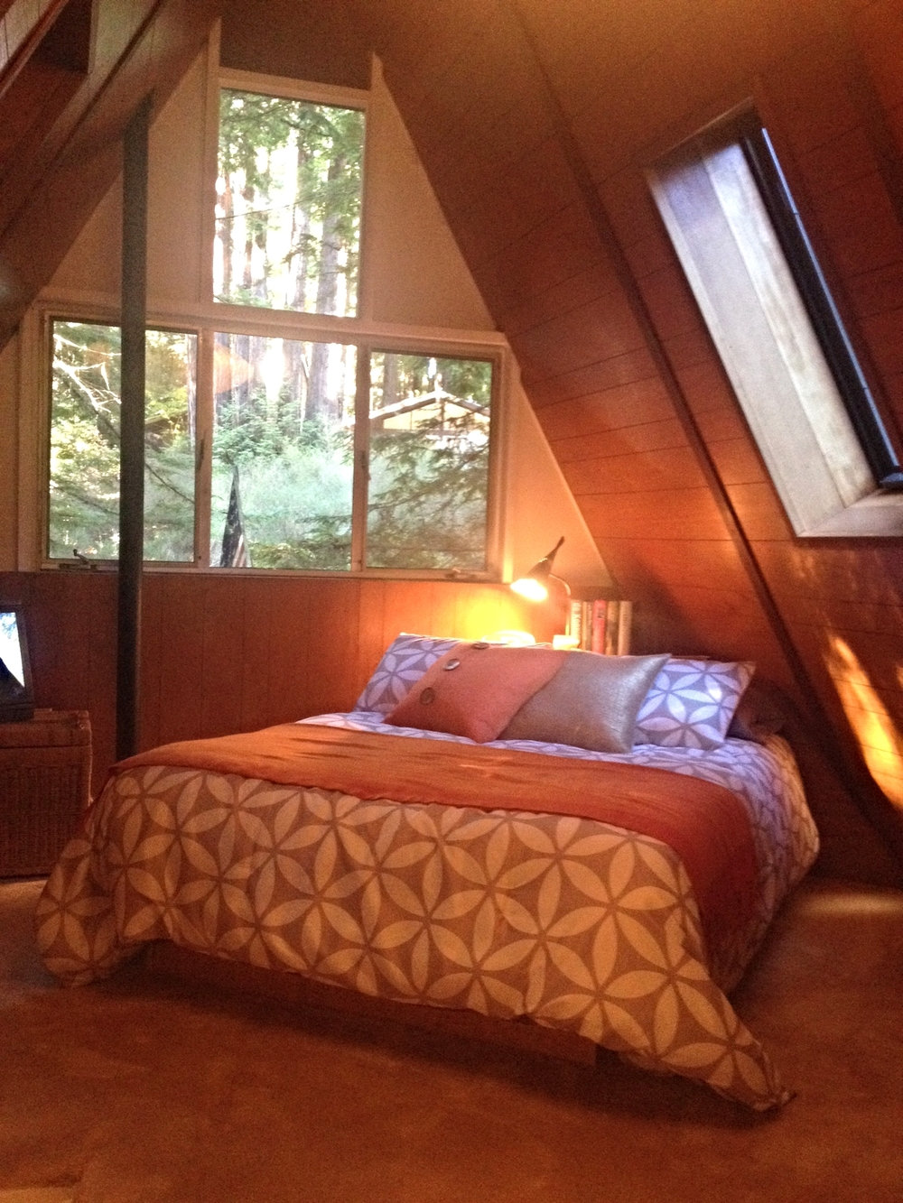 The loft bedroom