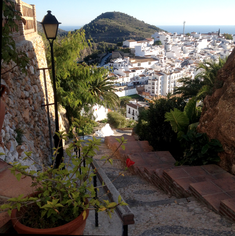 View from our Airbnb spot in Frigiliana, Spain. A very magical place.