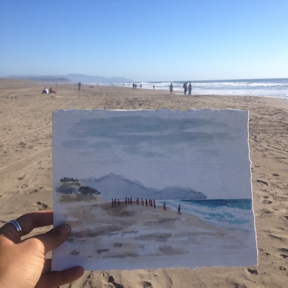 Ocean Beach sketch.JPG