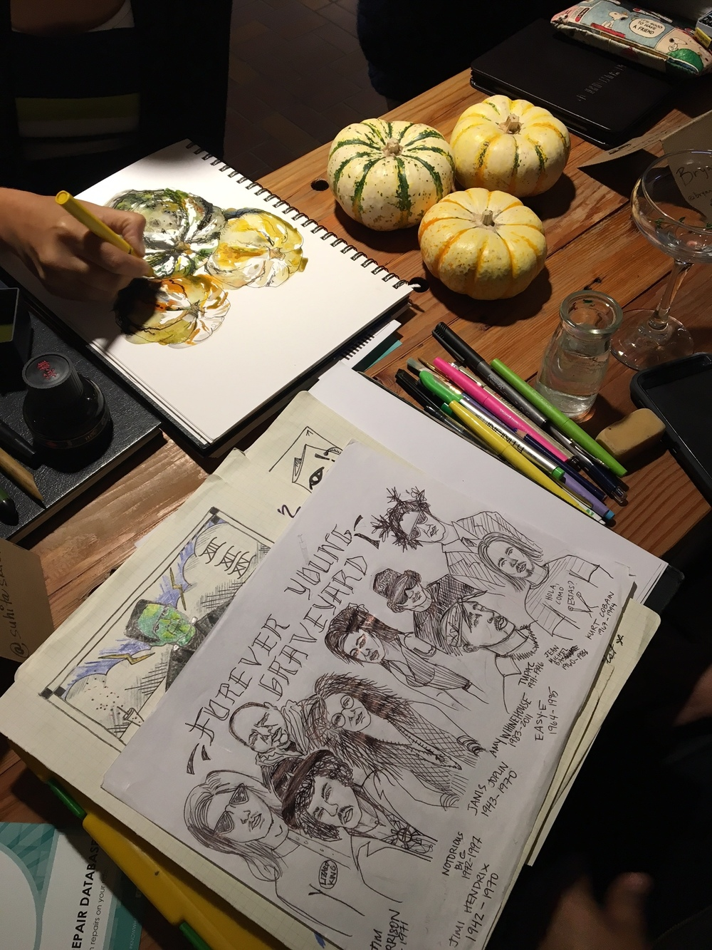 Anabella's halloween-themed sketches