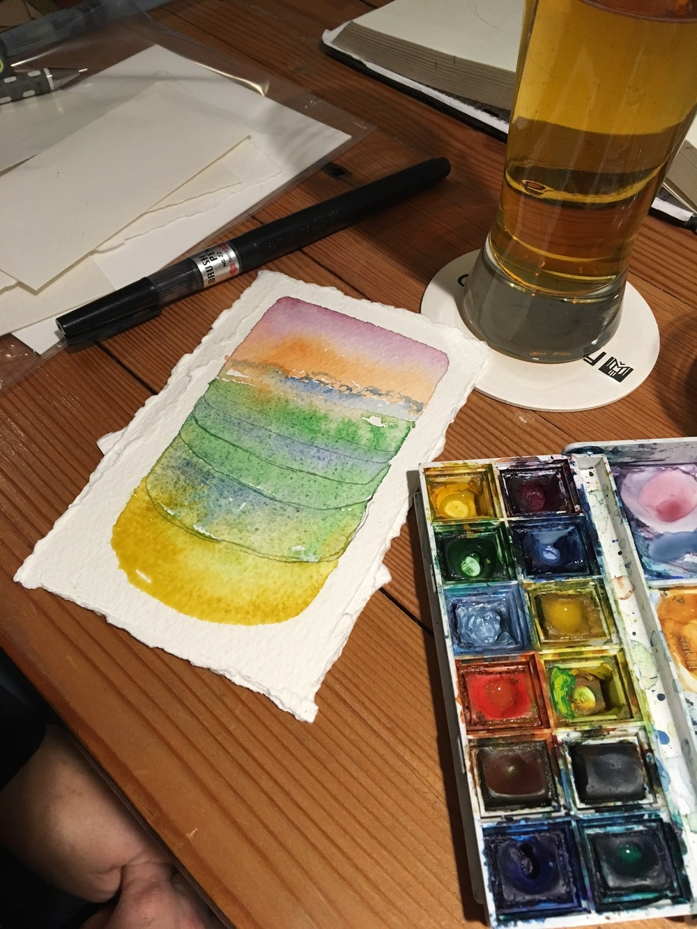 Elissa working her watercolor magic