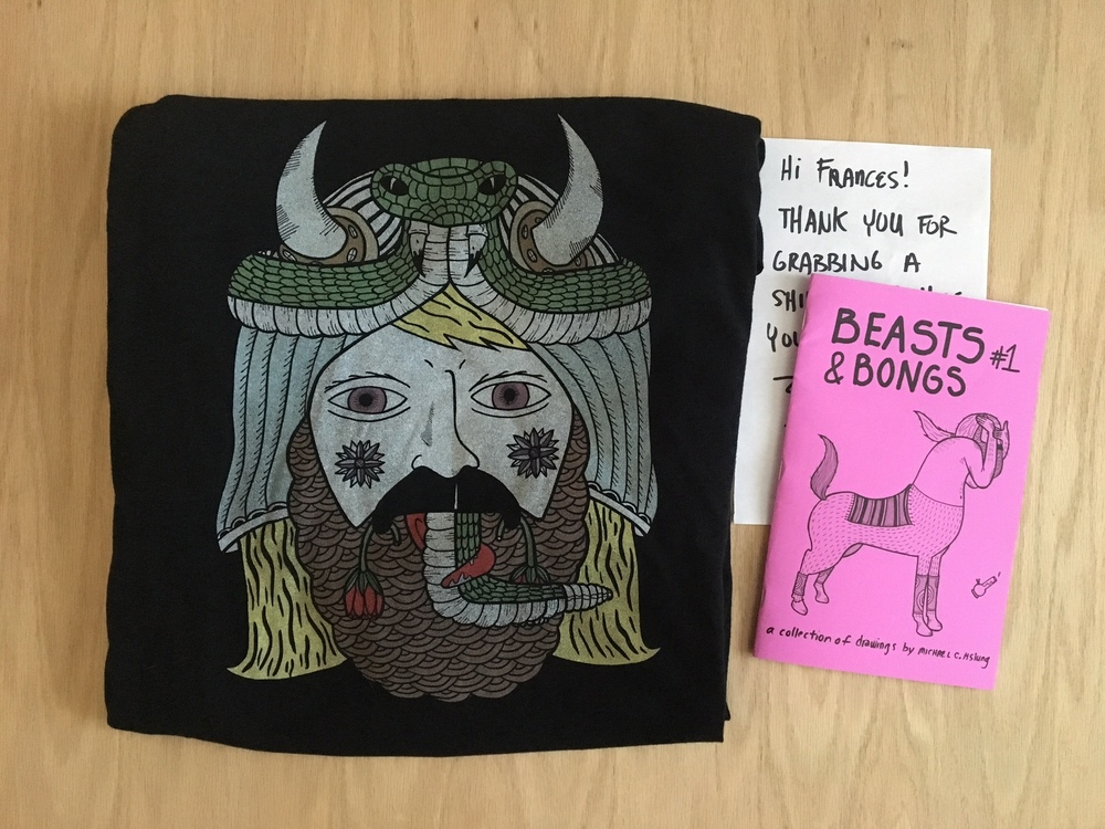 Loot from  Michael Hsiung  - my new favorite shirt!
