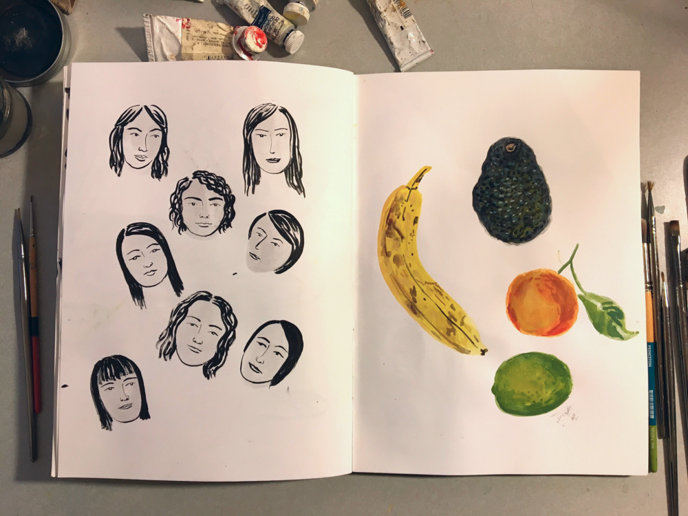 Heads and some fruit
