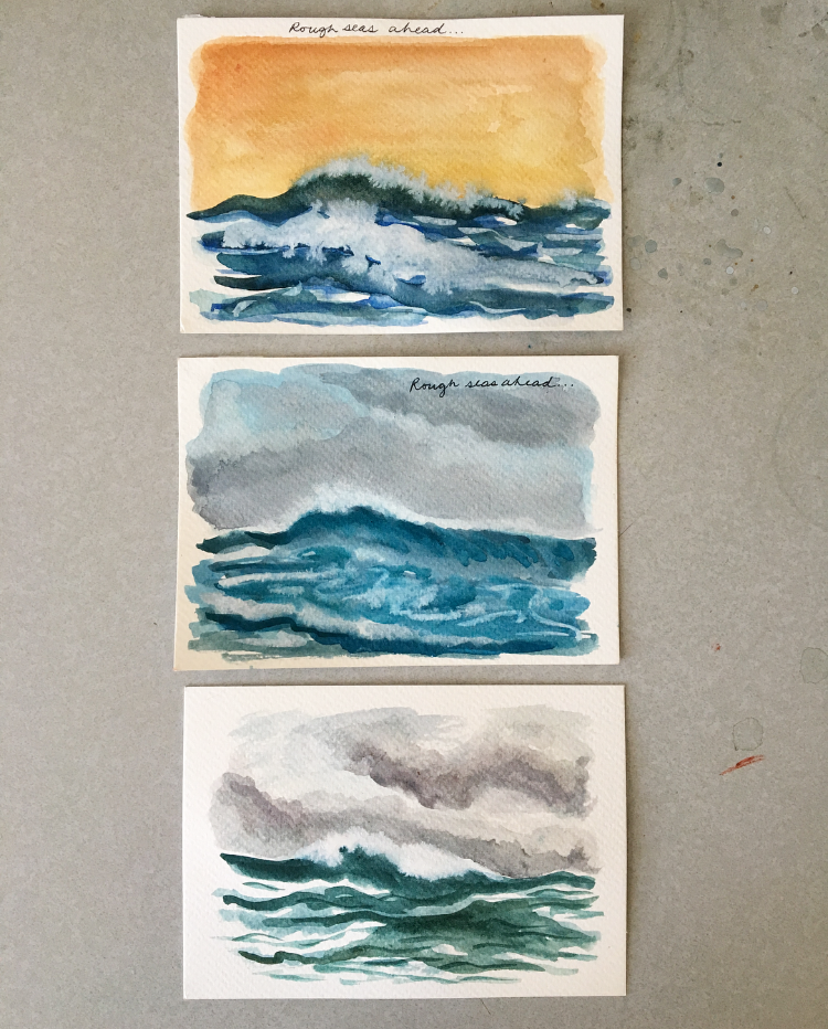 Three sea paintings from this week.