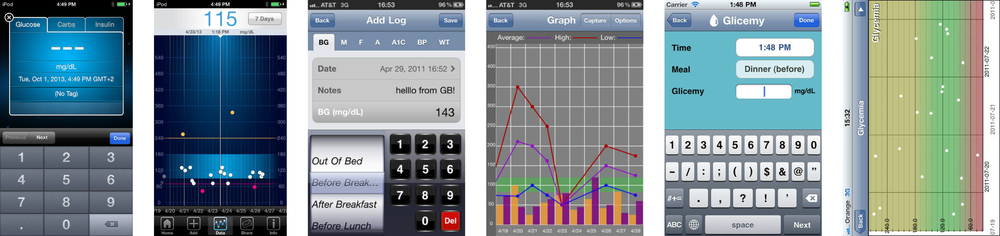 A few existing diabetes management apps. Yikes.