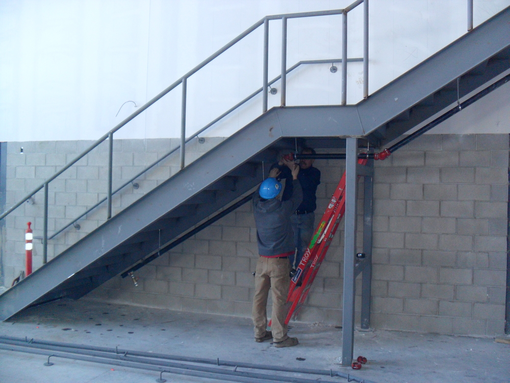 INSTALLING SPRINKLERS TO THE UNDERSIDE OF THE STAIRS