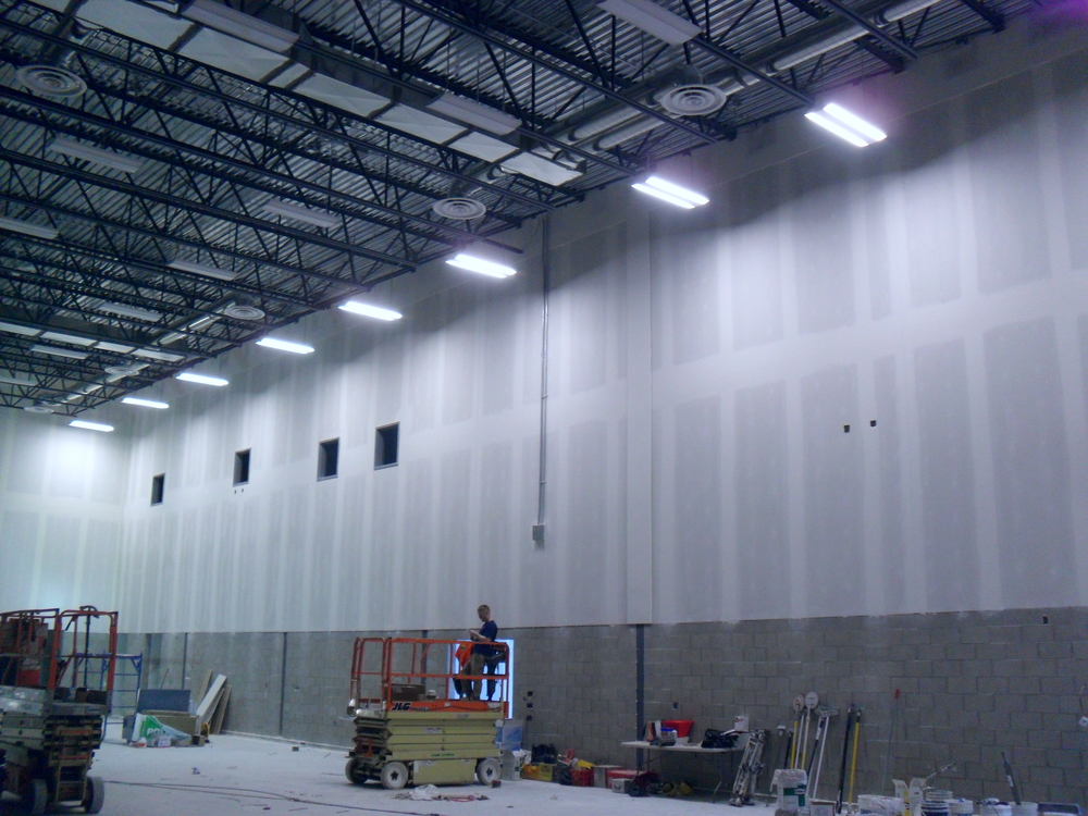This is 8 lights.  The room will be very bright with all 70 lights in the gym turned on.