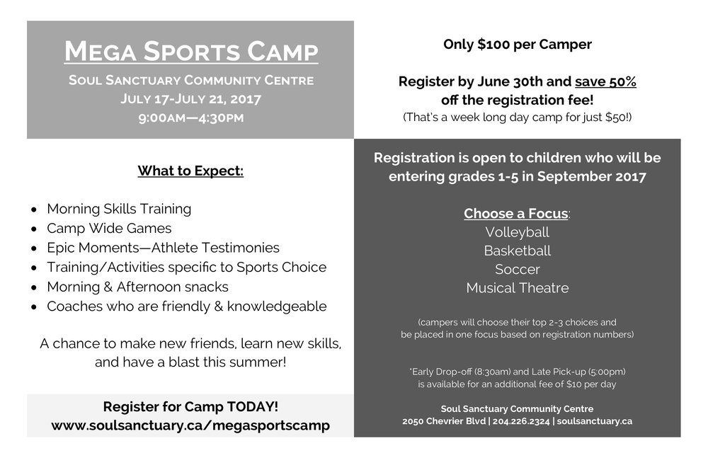 Click the image above to go to the camp website for full details & registration!