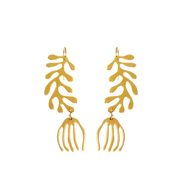 Seaweed Earrings Double #2