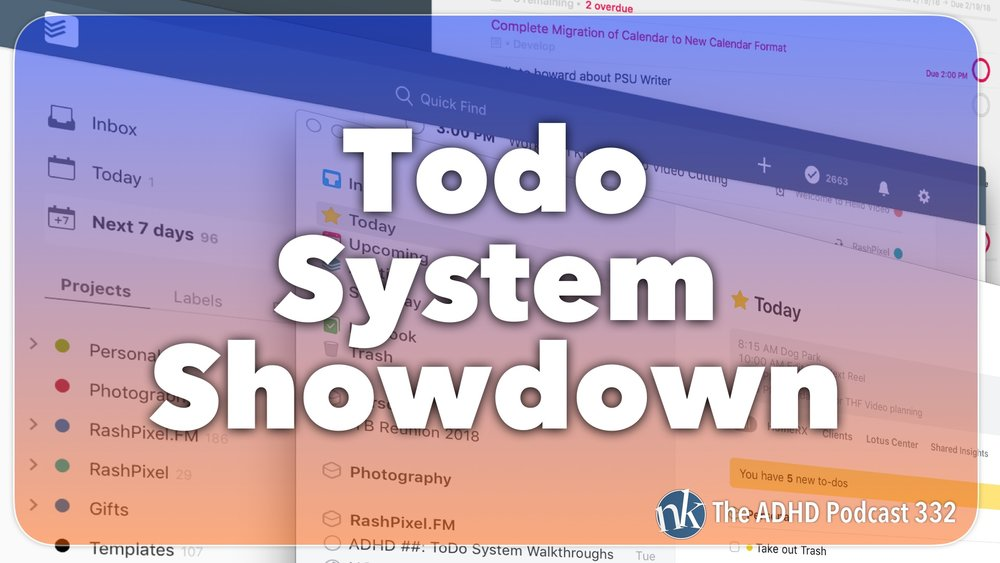 Listen to the ToDo System Showdown on Taking Control The ADHD Podcast