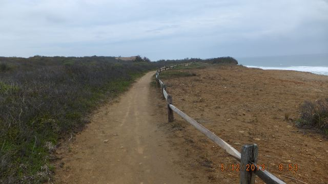 Trail along the bluff
