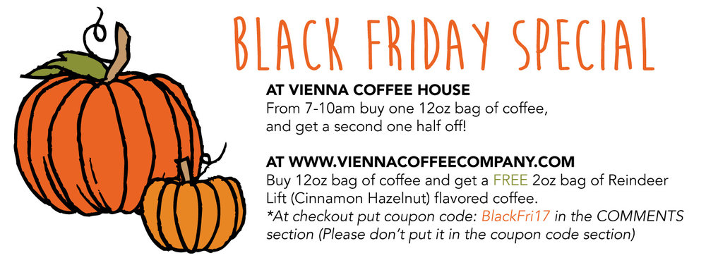 Black Friday Deals - Vienna Coffee Company