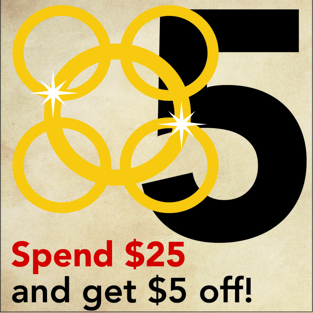 DEC. 20 - 5 GOLDEN RINGS Spend $25 online, at Vienna Coffee House or Regas and get $5 OFF. Use online coupon code: 5Ring5.