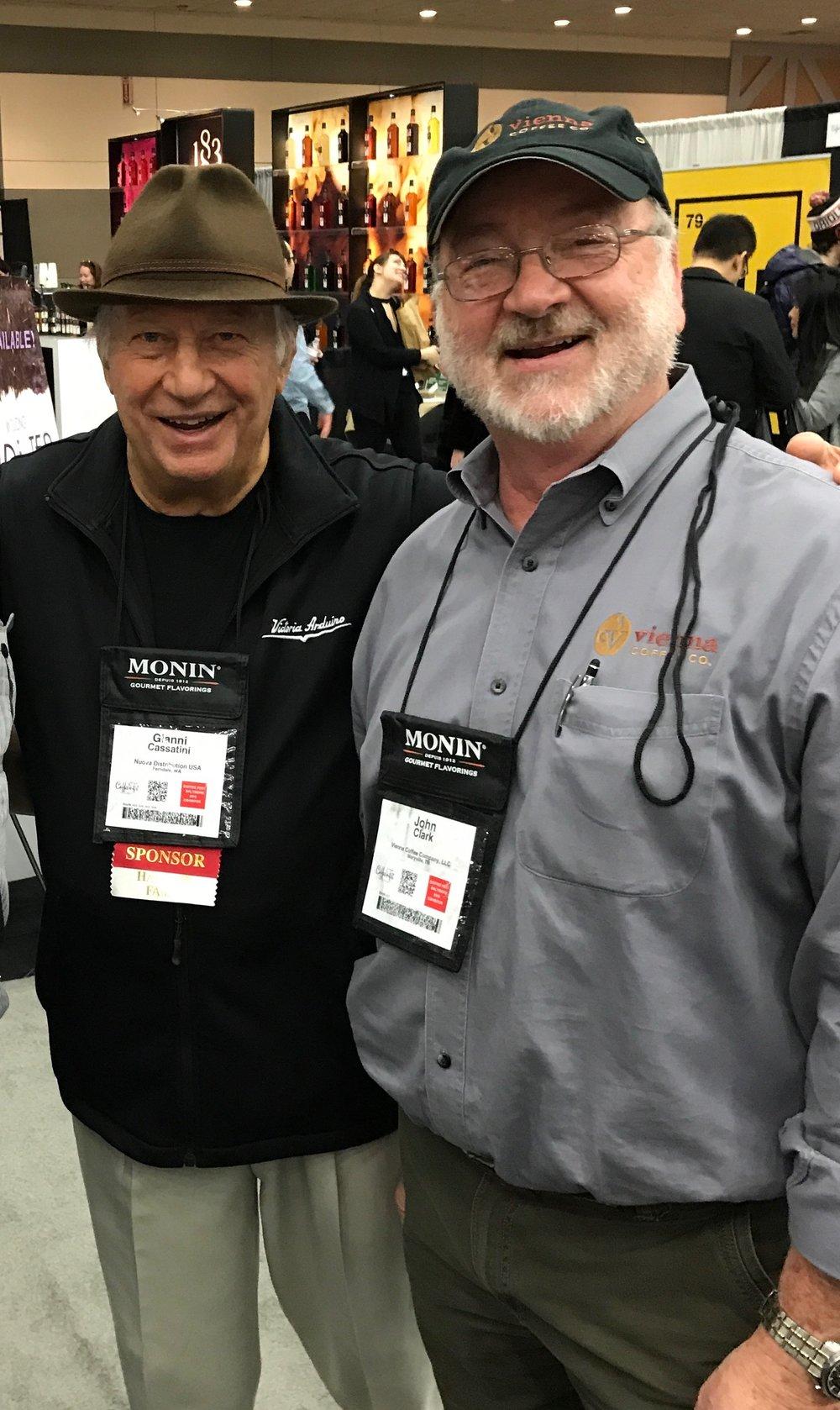 John with Nuova Simonelli's Gianni Cassatini