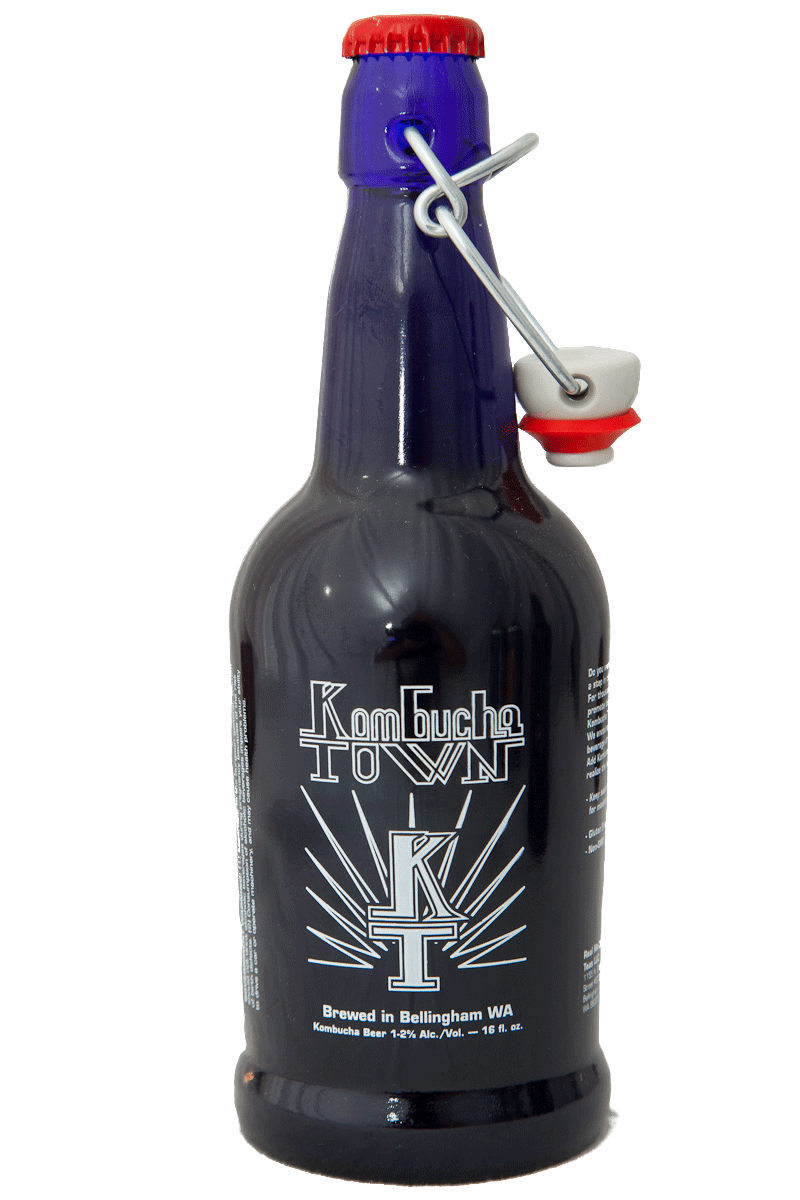 "Kombucha Town ""Signature"" is made with black tea"