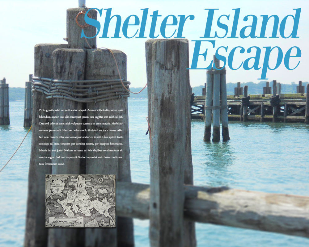 Shelter Island Escape - Layout, design & photography