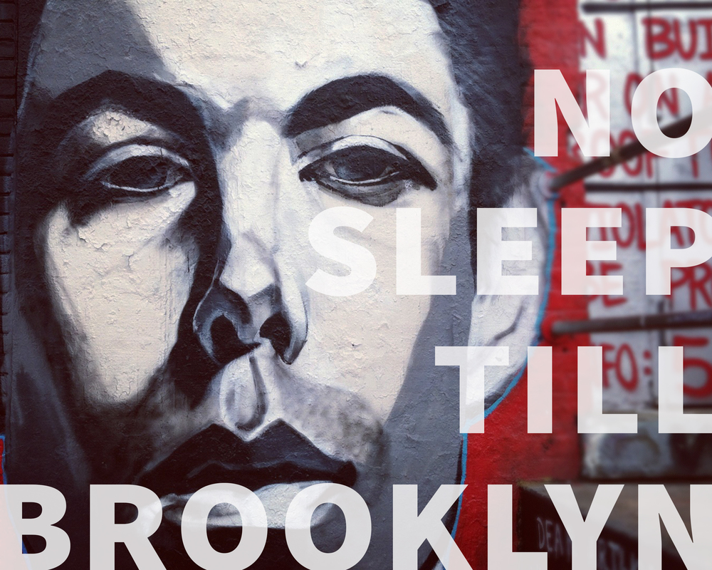 No Sleep Till Brooklyn - Poster/Billboard design & photography  Photo of MCA taken at 5Pointz in Long Island City, NY