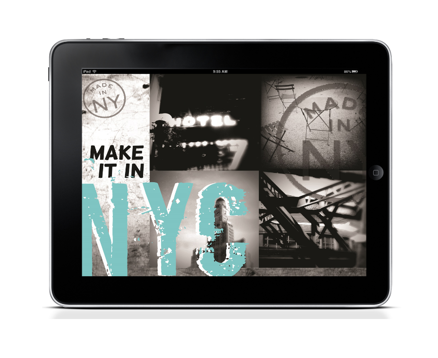 Made in NY Promotional Web Splash Design (spec)  Layout, design & photography