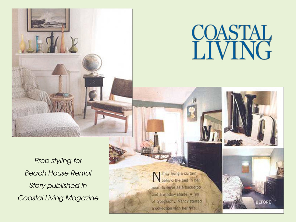 Prop styling for story published in Coastal Living Magazine